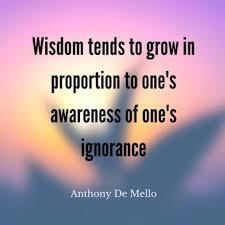 Wisdom Relates to Awareness of Ignorance