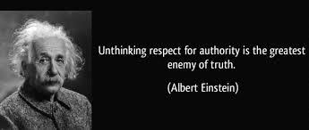 Albert Einstein Question Authority